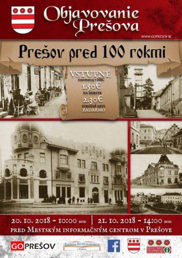 OBJAVOVANIE PREŠOVA: Prešov pred 100 rokmi