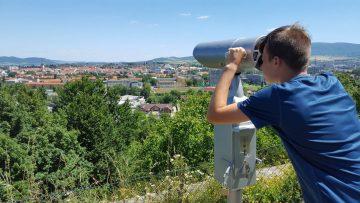 Vyhliadkový ďalekohľad na Kalvárii