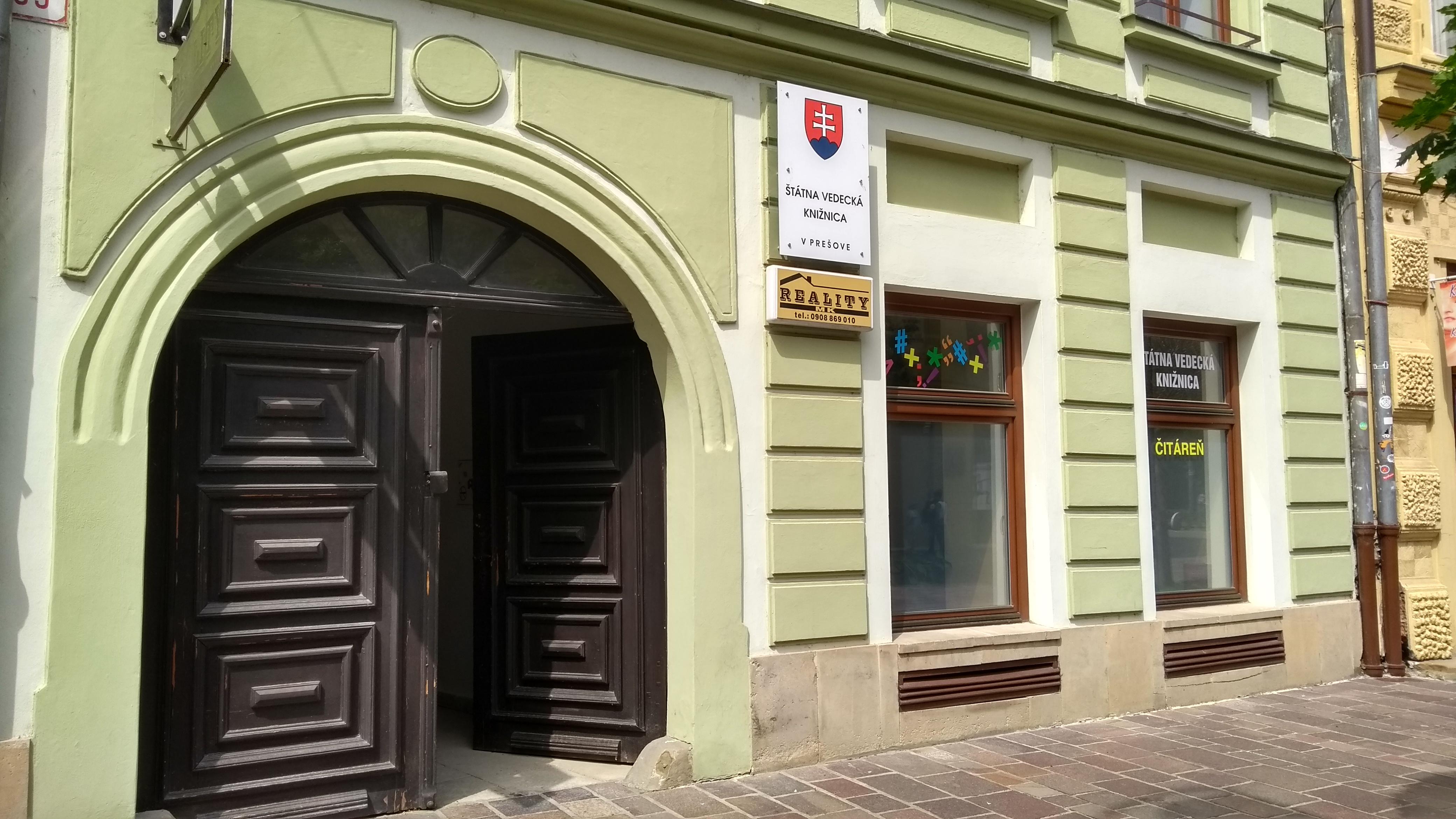 Štátna vedecká knižnica v Prešove (Window Gallery)